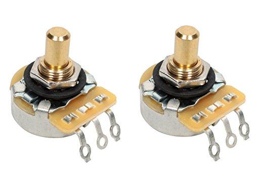 CTS 250K Short SOLID Shaft Audio Potentiometer/Pot - 450G Series - PAIR (2X)