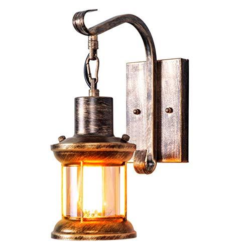 Wandleuchte Vintage, Antik E27 Vintage Metall für Schlafzimmer Wohnzimmer Küchen Treppenhaus Flur (Öl Gerieben Bronze) (Ohne Leuchtmittel)