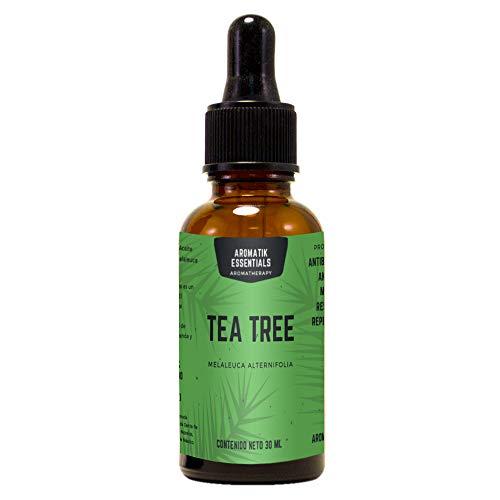 Aromatik Essentials: Aceite esencial de tea tree para aromaterapia 30ml (melaleuca alternifolia)