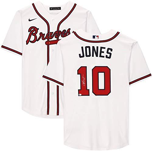 Chipper Jones Braves Autographed White Replica Jersey - Autographed MLB Jerseys
