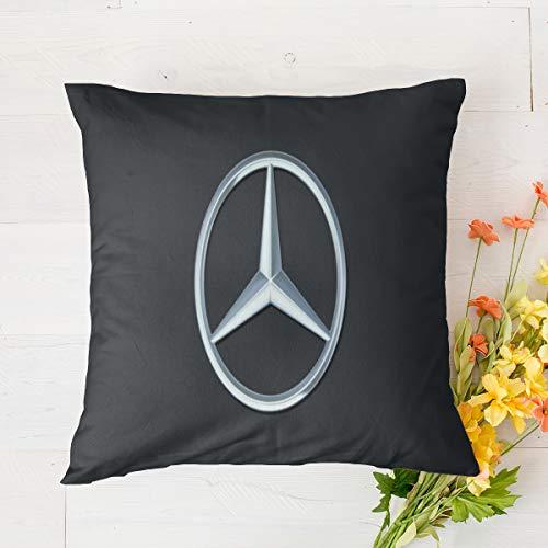 Fundas de cojín para exteriores de Mercedes Benz, fundas de almohada decorativas para decoración del hogar, de lino para sofá de 45,7 x 45,7 cm