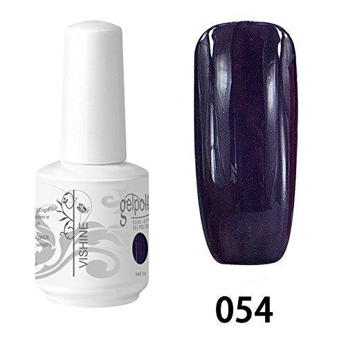 Vishine Vernis à ongles Semi-permanent Gel Polish UV LED Soak Off Manucure Dark Orchid (054)