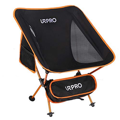 URPRO Camping Stuhl Ultraleichte tragbare Klappstühle mit Tragetasche Schwere 145KGS Kapazität Klappstuhl Camping Klappstühle Strand