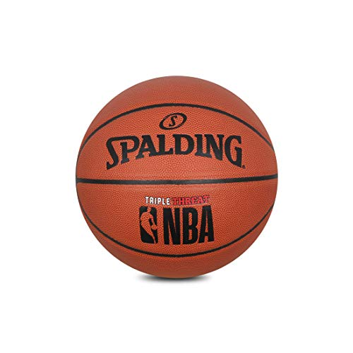 Amazing Deal Spalding BB Triple-Threat-7 Rubber BasketballSize 7 (Orange)