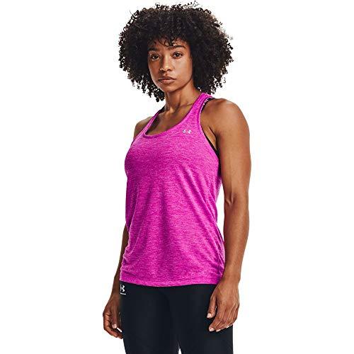 Under Armour Camiseta de Tirantes para Mujer, Mujer, Camiseta Deportiva de Material UA Tech Supersuave y de Secado rápido,...