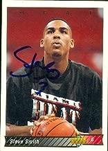 Autograph Warehouse 51876 Steve Smith Autographed Basketball Card Miami Heat 1992 Upper Deck No .110