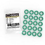 Green Viton® (FKM) - Juntas tóricas métricas de goma de 6 mm x 2 mm (10 mm OD) - Dureza de 75 A - Paquete de 20