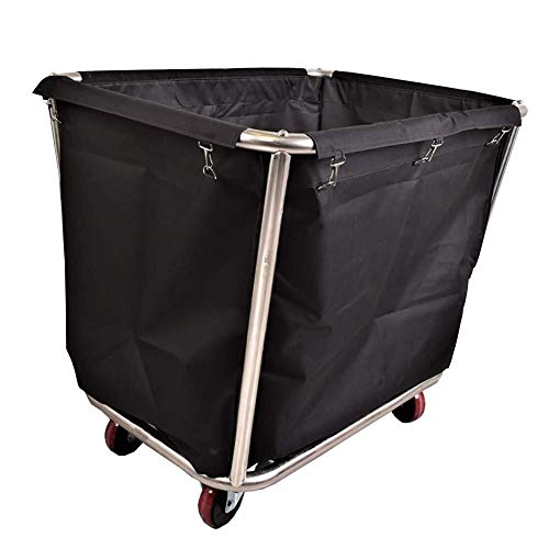 Wasserij sorteren car Wasmand Sorters winkelwagen Stainless Steel - Commercial Hotel Dienst Trolley met Silent Wheels & Verwisselbare Bags Dienst rolwagen (Color : D)