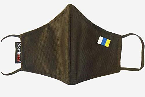 Mascarilla con bandera de Canarias Lavable y Reutilizable 100% Poliester, Micro-fibra Pack 5