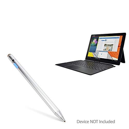 Lenovo Miix 720 Stylus Pen, BoxWave [AccuPoint Active Stylus] Electronic Stylus with Ultra Fine Tip for Lenovo Miix 720 - Metallic Silver