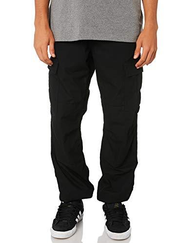 Carhartt Herren Regular Cargo Pant Jeans, Schwarz (Black Rinsed), 32