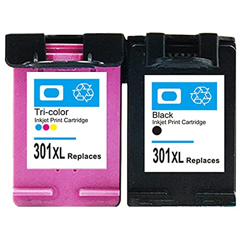 301 XL Reemplazo de Cartucho de Tinta Compatible para HP 301XL, Adecuado para DeskJet 2050 2540 3050 1510 Envy 4500 5530 5532 OfficeJet 2620 2622 4630 4636 Impresora Set