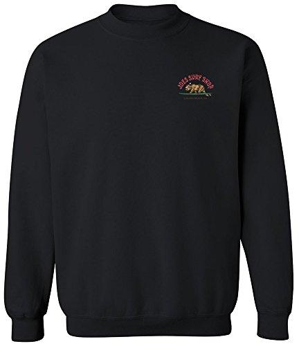 Joe's Surf Shop Christmas Surfing Bear Crewneck Sweatshirt-M-Black/c