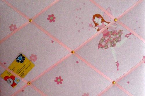 Medium Laura Ashley rosa Millie fata mano artigianale tessuto avviso/pin/memo board