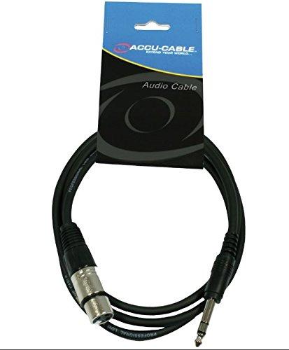 Accu Cable AC-XF-J6S/1,5 - Cavo adattatore con connettore XLR femmina su connettore jack stereo da 6,3 mm