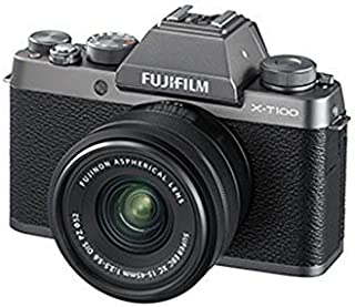 Fujifilm X-100T Mirrorless Digital Camera, Dark Silver - XC 15-45mm F3.5-5.6 OIS PZ