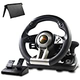 Game Racing Wheel PXN-V3, Einstellbares Gaming-Lenkrad mit Pedalen und Vibrations-Feedback ( Force Feedback,180° Lenkbereich,Schwarz)