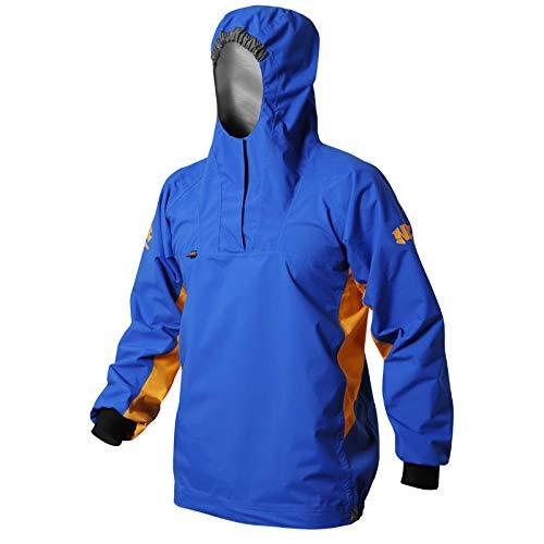 Nookie NKE Centre Smock - Chaqueta impermeable con capucha (talla pequeña), color azul y naranja
