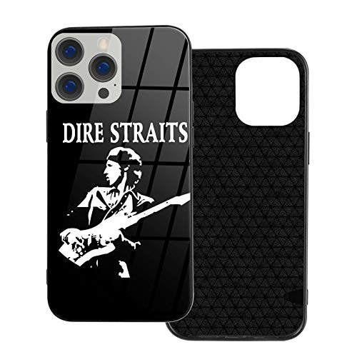 HPOFKEOEF Dire Straits Logo Personality iPhone 12 Series Glass Phone Case Shockproof Protective Cover Ip12mini-5.4