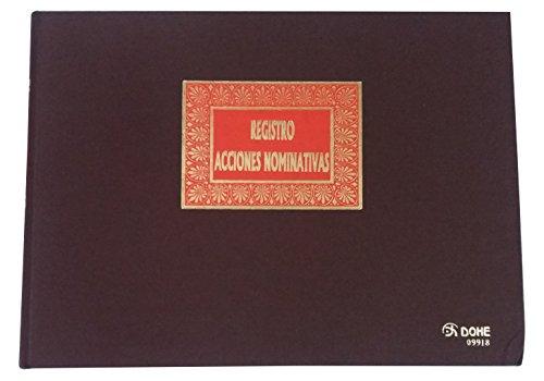 Dohe 9918 - Libro Registro, acciones nominativas, folio apaisado