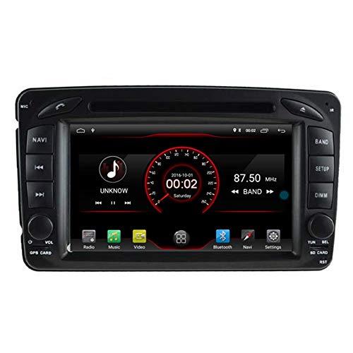 BWHTY Android 10 Reproductor de DVD para Coche GPS Unidad Principal estéreo Navi Radio Multimedia WiFi para Mercedes Benz Clase C W203 CLK W209 Control del Volante
