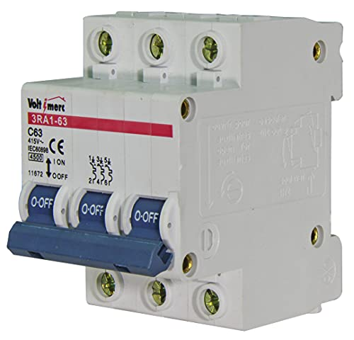 Voltimerc Interruptor Magnetotérmico 3 Polos 63A 6KA
