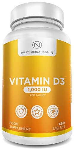 Vitamin D3 1000IU (25μg) per tablet 15 Month Supply (450 tablets)