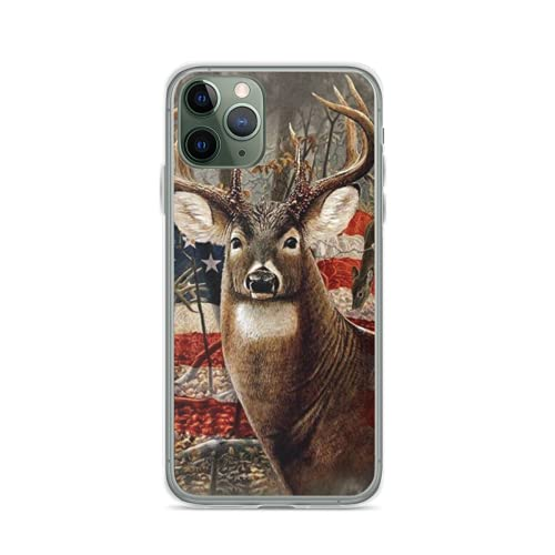 Phone Case Hunting Deer Buck Graphics Art Compatible with iPhone 12 11 X Xs Xr 8 7 6 6s Plus Mini Pro Max Samsung Galaxy Note S9 S10 S20 Ultra Plus