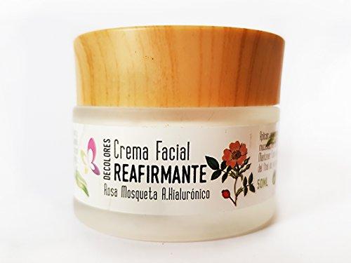 Decolores Crema Facial Reafirmante Antioxidante 50ml piel seca, antiedad. Con Rosa Mosqueta, acido hialuronico, malva, acai, camelia y Aloe Ecologico