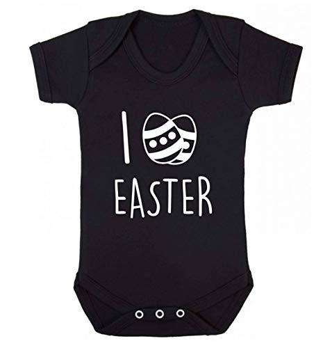 Flox Gilet créatif pour bébé I Love Easter - Noir - S