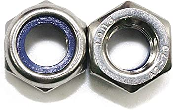 100Pcs M3 x 0.5mm 304 Stainless Steel Self-Lock Nylon Inserted Hex Lock Nuts Self Clinching Nuts