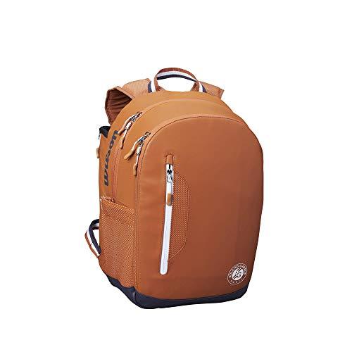 Wilson Roland Garros Tour Backpack, Wr8006601001 Borsone da Tennis, Fino a Un Massimo di 2 Racchette, Marrone One Size