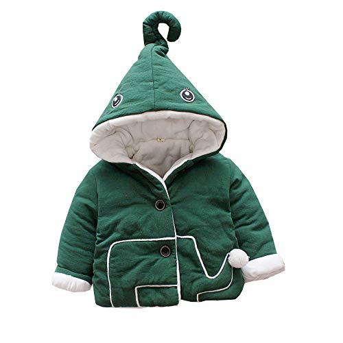 Mornyray Manteau Bébé en Coton et Veste Enfant Épaissie en Velours Size 90 (Green)