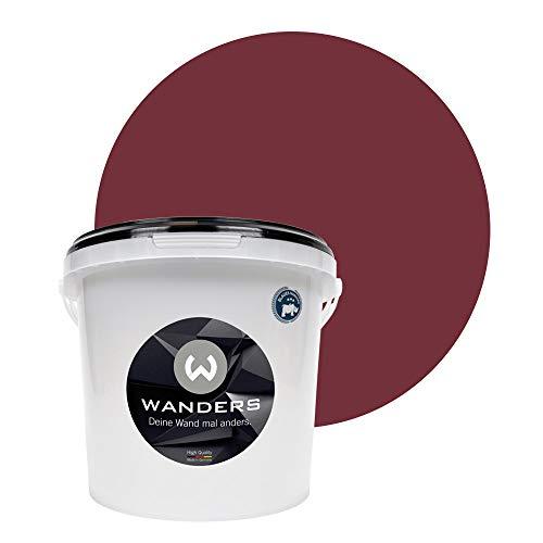 Wanders24® Tafelfarbe (3Liter, erlesene Kirsche) Blackboard Paint - Tafellack - abwischbare Wandfarbe - in 20 Farbtönen erhältlich - Made in Germany