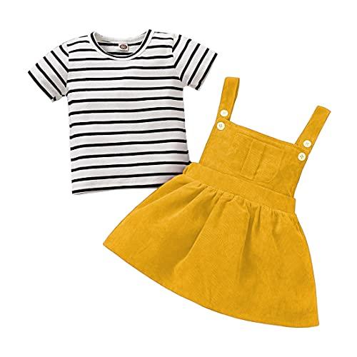 Verve Jelly Conjunto de 2 piezas de manga larga y falda de pana para niña