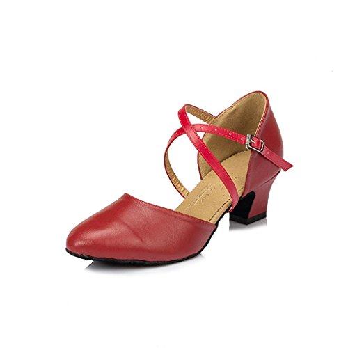 Meijili , Damen Tanzschuhe , rot - rot - Größe: 40