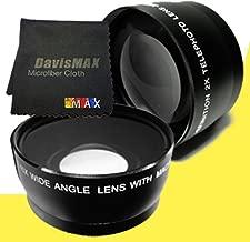 77mm Wide Angle + 2x Telephoto Lenses for Sony Alpha SLT-A37 with Sony 24-70 f/2.8 Carl Zeiss Lens + DavisMAX Fibercloth Lens Bundle