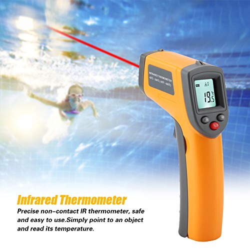 Rosvola Infrared Thermometer, GS320 No-Contact LCD Display Handheld Digital Infrared Thermometer -50℃-360℃