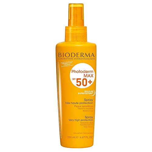 PHOTODERM MAX Spray SPF 50+ 200ml |Protection optimale UVA-UVB – Active les défenses naturelles de la peau| Peaux sensibles ou intolérantes au soleil