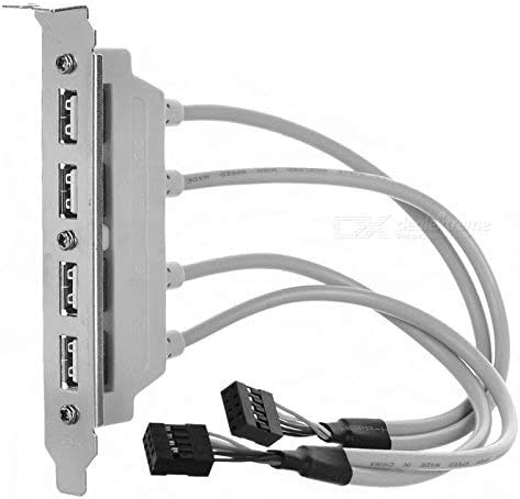 CABLESETC 4 Port USB 2.0 Female Host Bracket to Dual 9P Motherboard Header Extension Cable product image