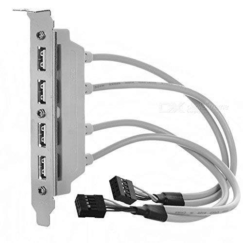 CABLESETC 4 Port USB 2.0 Female Host Bracket to Dual 9P Motherboard Header Extension Cable