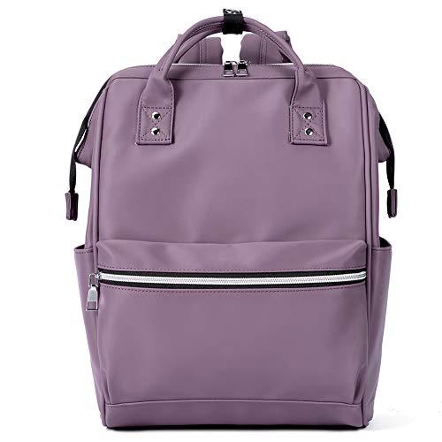 BROMEN Laptop Backpack 15.6 inch Diaper Bag Backpack for Women Waterproof Travel College Daypack Bag Purple