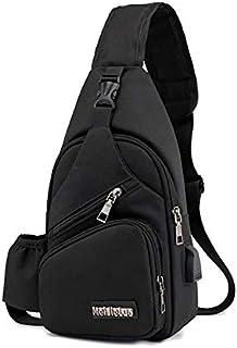 Onesea Small Travel Gym Bike Sling Bag, Laptop iPad Mini Sling Chest Cross Body Backpack, Water Resistant One Shoulder EDC...