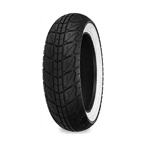 Shinko SR723 White Wall Front Tire - 120/70-10/Blackwall by Shinko