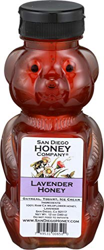 San Diego Honey Company Honey Bear Lavender 12 Ounce