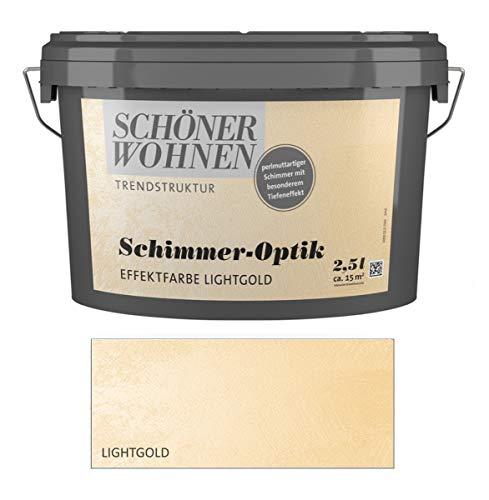 Schöner Wohnen 2,5 L. Schimmer-Optik Effektfarbe, perlmuttartiger Schimmer - Lightgold
