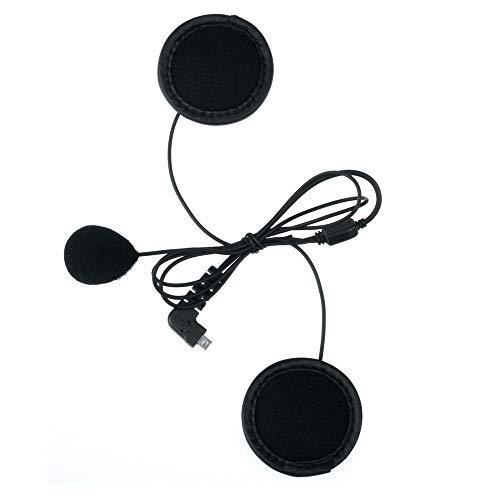 FLLOVE FANGLIANG 1 PC Suave del Auricular del micrófono y en Forma for el BT-S2-S3 BT Bluetooth del Casco de Moto Intercom Accesorios dignos de la Cara Llena Casco Cerrar (Color : Mini USB Interface)