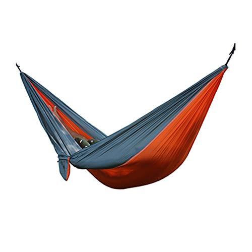 QXYOGO Hamaca Ultraligero al Aire Libre Acampada Hamaca Swing Swing árbol Cama jardín Patio Trasero Muebles Colgando Silla hangmat 270 * 140 cm Hamacas Colgantes (Color : 17)