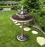Ark Dcor- Backyard Water Fountains Outdoor - Bronze Resin Three Tier with Pump - Bring Charm to Your Garden Or Veranda with This Eye-Catching Fountain