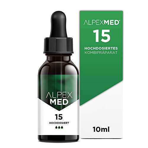 ALPEX-MED® Öl mit 15 Prozent Premium Terpen-Konzentrat | 10ml Essential Tropfen mit Zertifikat enthält ungesättigte Omega Fettsäuren - 100{bb2226db4f50a1f4217ea3f0ee79b468688bbe9abfd9e8833d517910664bb7f0} Vegan